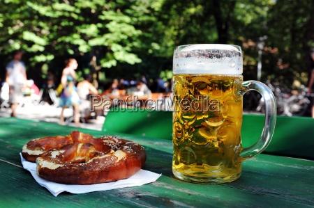 beer pretzel beer garden