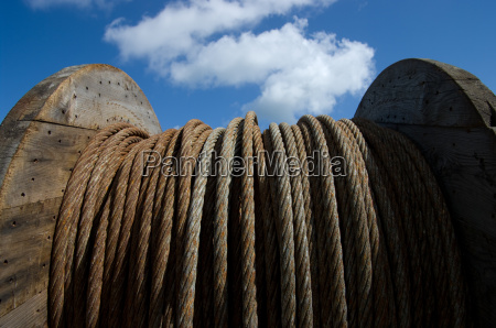 blue cloud rusty roll steel cable