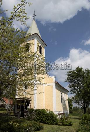 village church at lake balaton