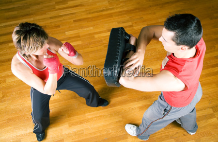 martial arts sparring punch