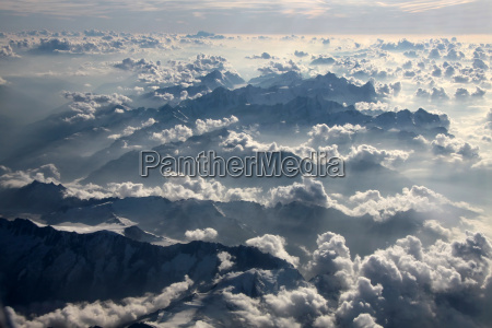 aerial view of clouds over the
