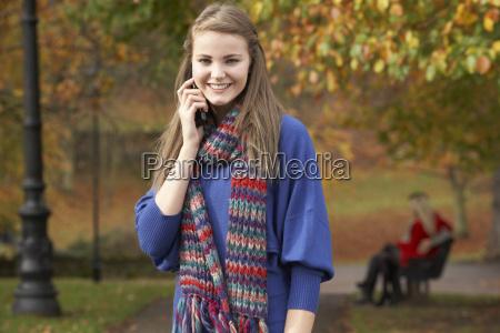teenage girl on mobile phone in