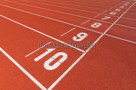 start point on sport field
