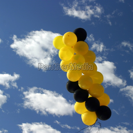 yellow black ballons