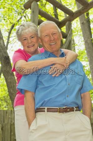 senior couple at park