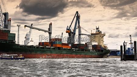 harbor transport hamburg harbours freight business