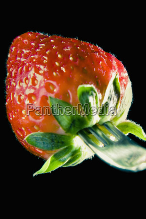close up of a strawberry