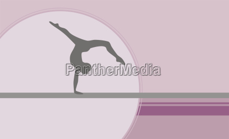 silhouette of a gymnast performing on