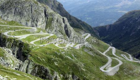 gotthard pass road andermatt airolo