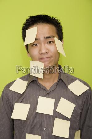 portrait of a male office worker
