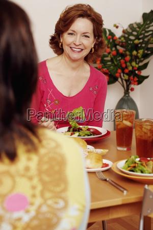 portrait of a mature woman sitting