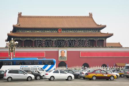 facade of a building tiananmen gate