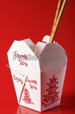 close up of chopsticks in a