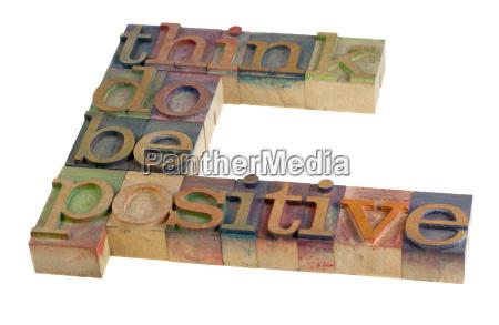 think do be positive motivation