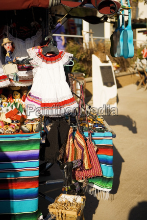 display of wares in a market