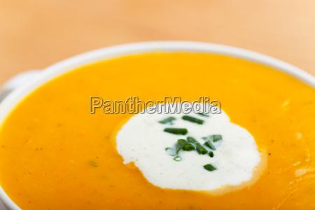 pumpkin soup closeup