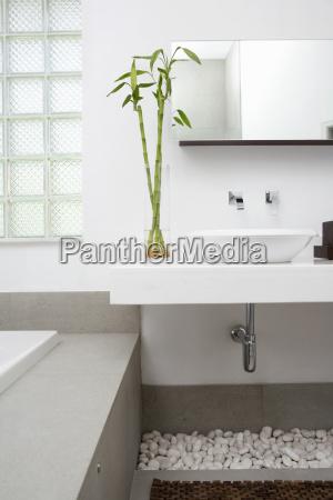 interiors of a bathroom