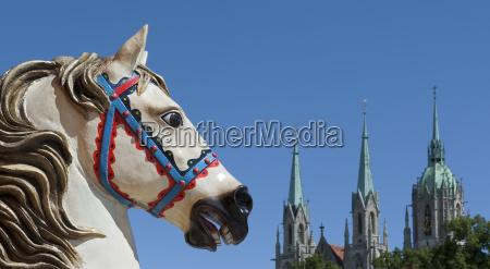 decoration horses from munichs oktoberfest