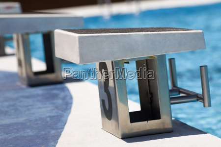 close up of diving platforms in