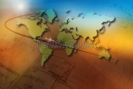 viajes aereos ilustracion