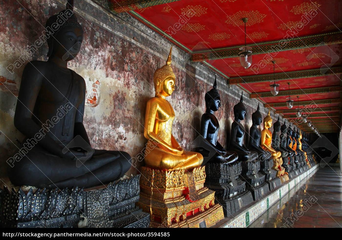 buddha, statues, suthat, temple, bangkok - 3594585