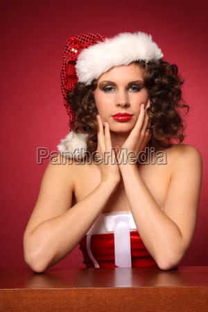 erotic christmas woman