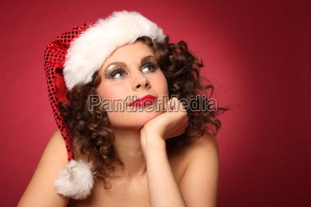 sweet christmas portrait