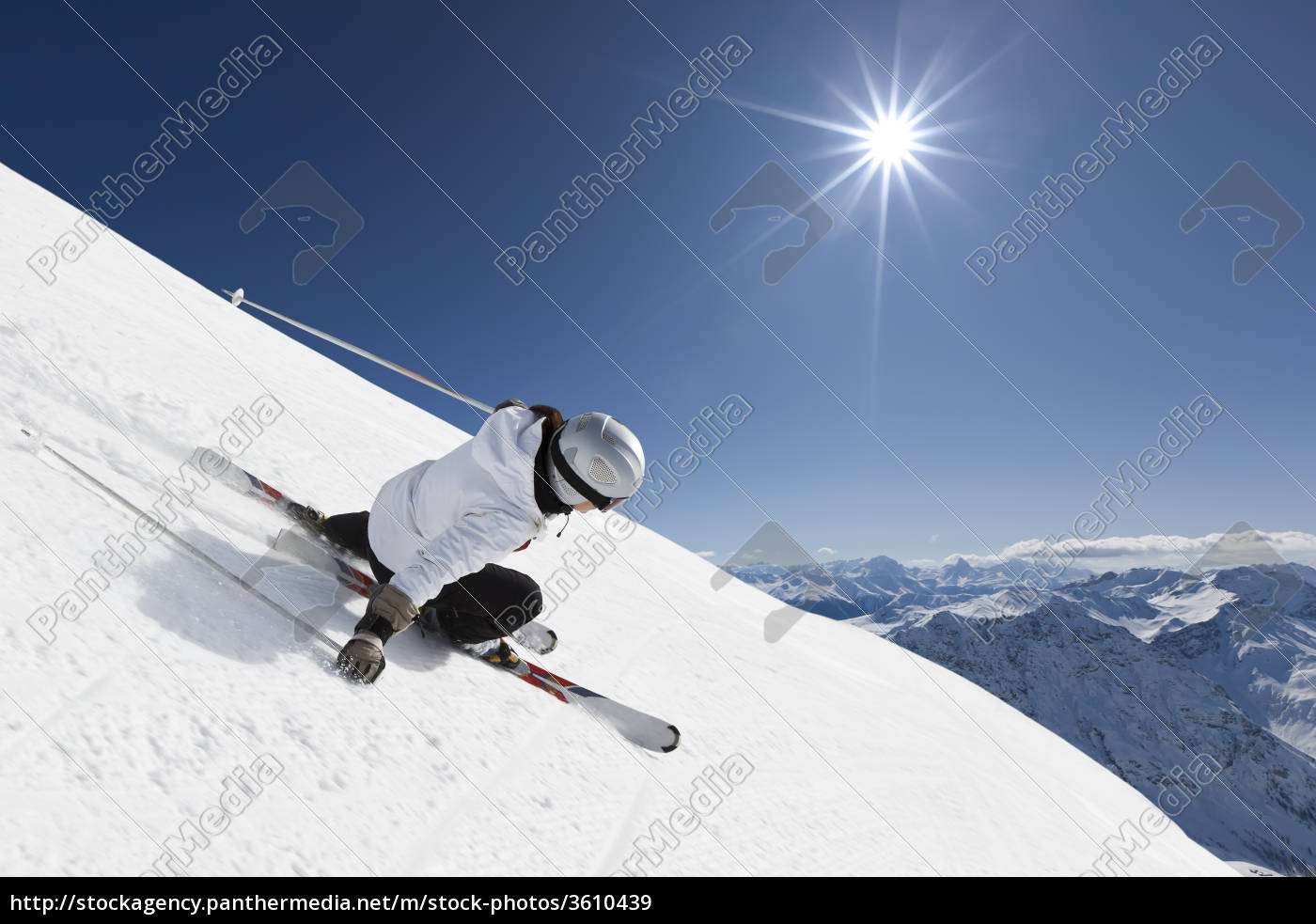 female, mountain, skier - 3610439