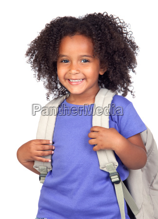 student little girl with beautiful hairs