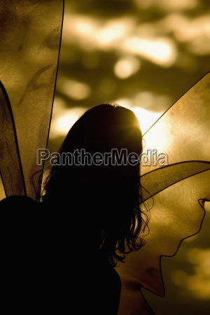 silhouette of a lesbian woman in