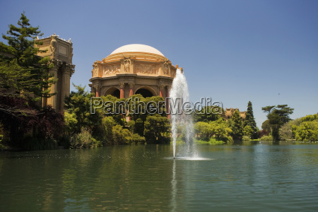 panoramic view of a fountain and
