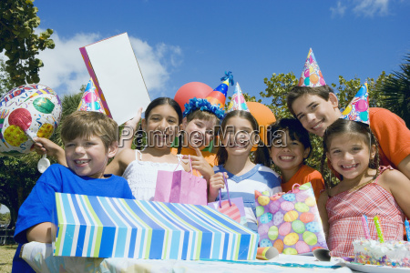 group of children celebrating a birthday
