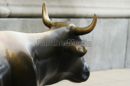 sculpture of a cow on the