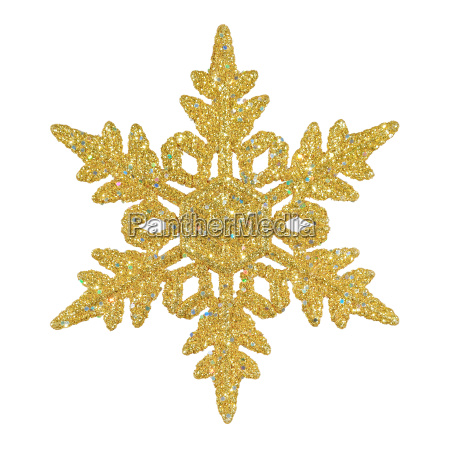 christmas snowflake in gold