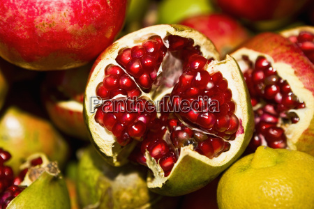 close up of pomegranates tlacolula de