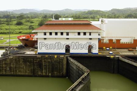 building near a dam miraflores locks