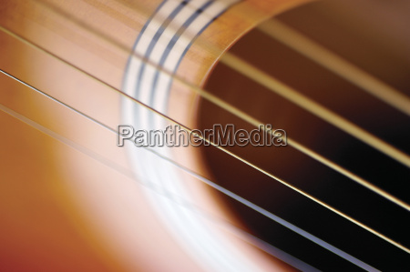 extreme close up of guitar and