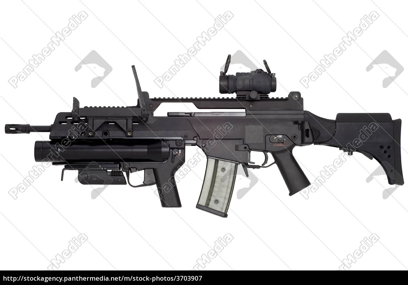 Stock Photo 3703907 - Automatic weapon G36