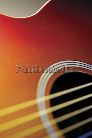 extreme close up of guitar