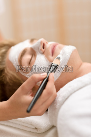 male cosmetics facial mask in