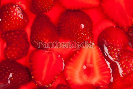 strawberries in gelatin