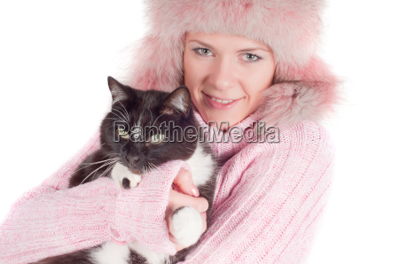 beutiful woman in pink