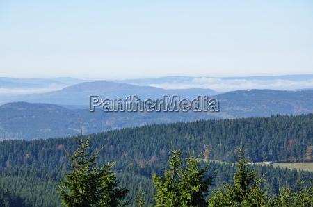 panorama thueringer wald