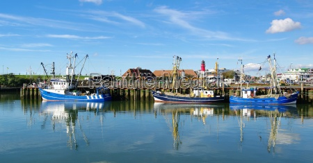 ships in the port of buesum