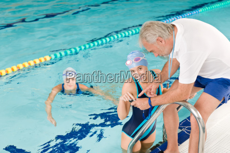 pool coach swimmer training competition