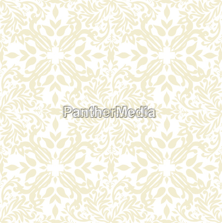floral beige repeat