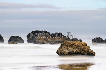 cannon beach early morning mist