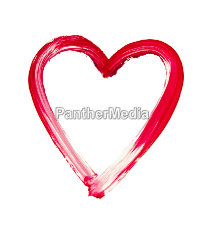 painted heart symbol of love