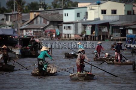 market on the mekong in vietnam