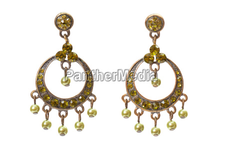 earrings, with, gems - 3833490